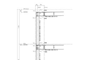 杭と柱を一体化した時の 応力分布図(鉄骨架構詳細図)