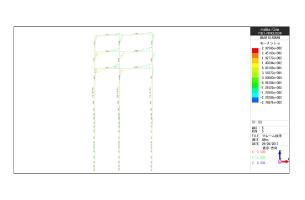杭と柱を一体化した時の 応力分布図(連成モデル応力図)
